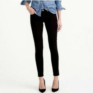 J Crew Black Toothpick Ankle Skinny Jeans